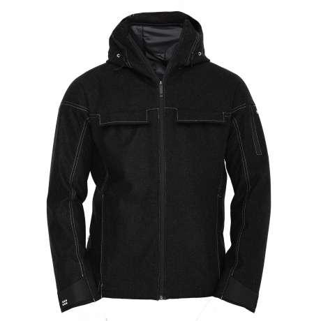 M's Swisswool Anorak   Black Wool