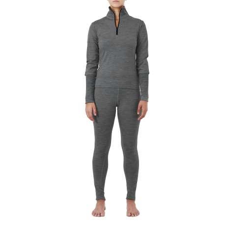W's Merino jersey Zip-Neck   Dark Grey