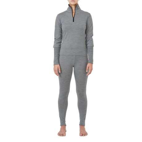 W's Merino jersey Zip-Neck   Light Grey