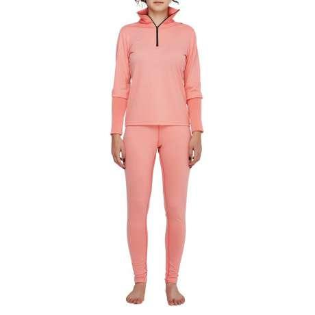 W's Merino jersey Zip-Neck | Pink